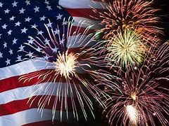 Flag and Fireworks graphic