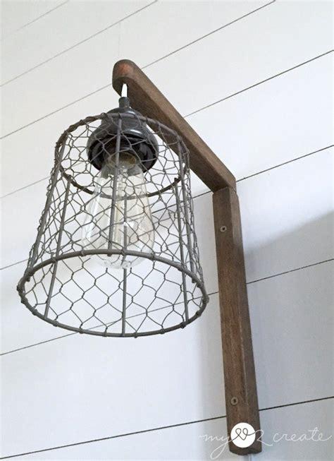diy wall sconce light diy light fixtures you can make