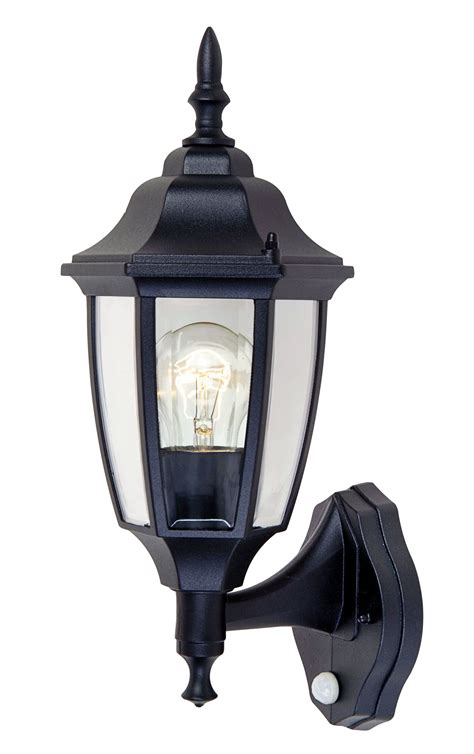 blooma louisa black external pir wall light departments