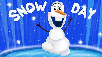 Image result for snow day closed olaf