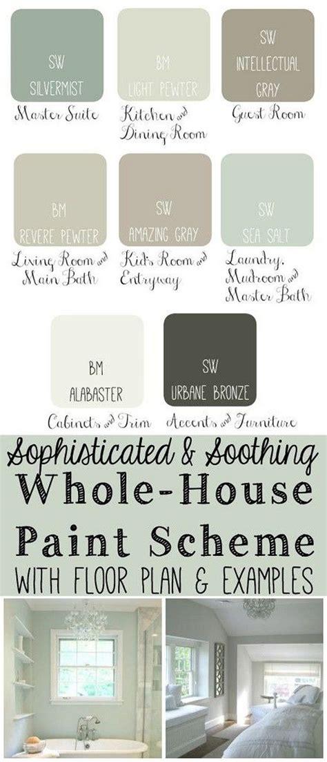images about paint whole house color palette on