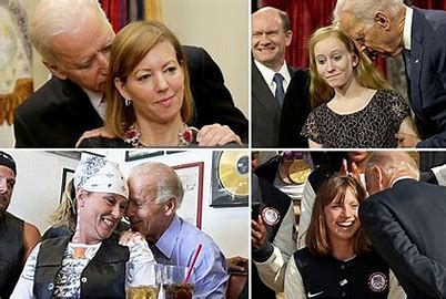 Image result for pictures of biden mauling women