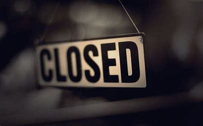 Image result for closed signs