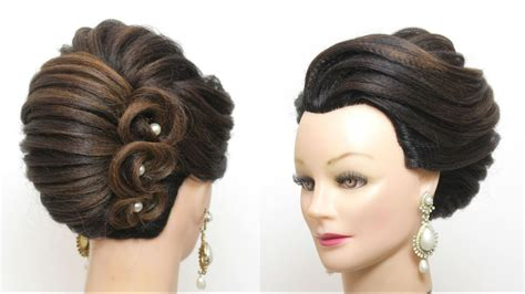 perfect french roll new bridal hairstyle for long hair