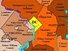 Image result for District of Columbia County Map