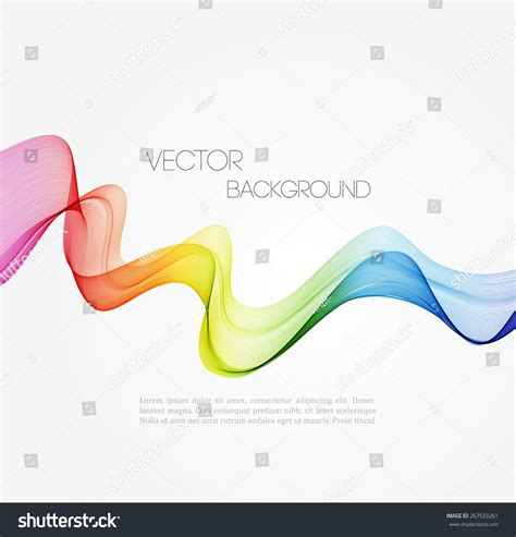 vector abstract spectrum curved lines background stock