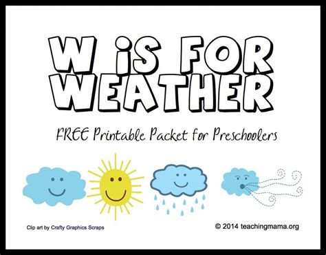 W IS FOR WEATHER LETTER W PRINTABLES WEATHER