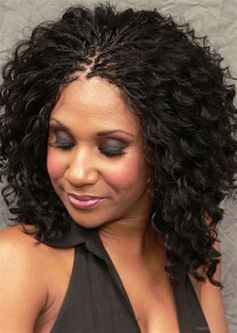 BLACK BRAIDED HAIRSTYLE WITH CURLY HAIRS