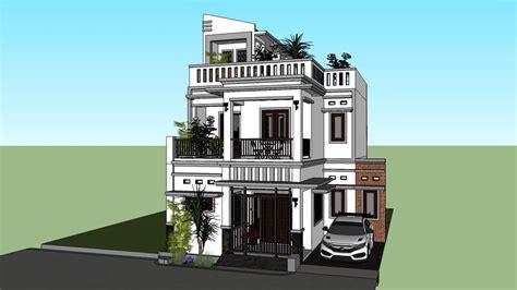 rumah tinggal minimalis lantai atap full dak beton info