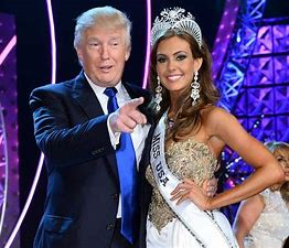 Image result for images trump with miss america