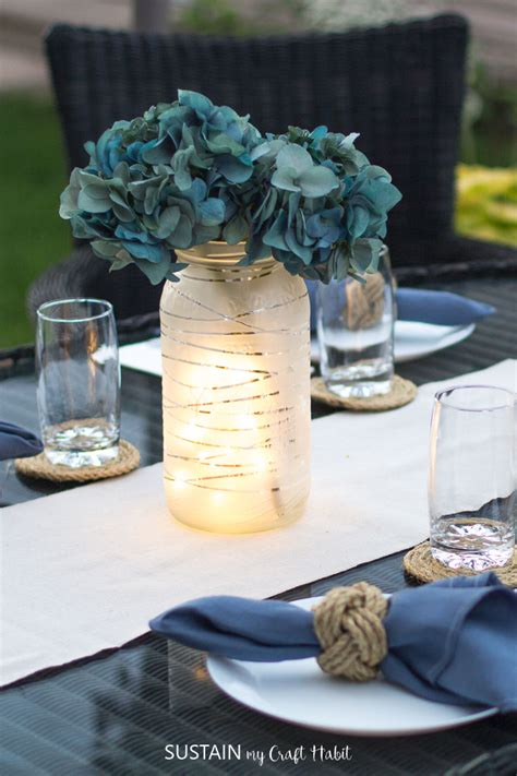 upcycling glass jars for diy wedding centerpieces