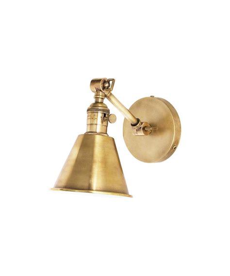 jamestown single short arm wall sconce antique brass in