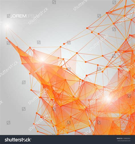 d orange abstract mesh background circles stock vector