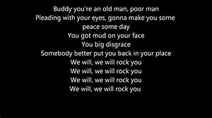 Image result for We Will Rock You Lyrics