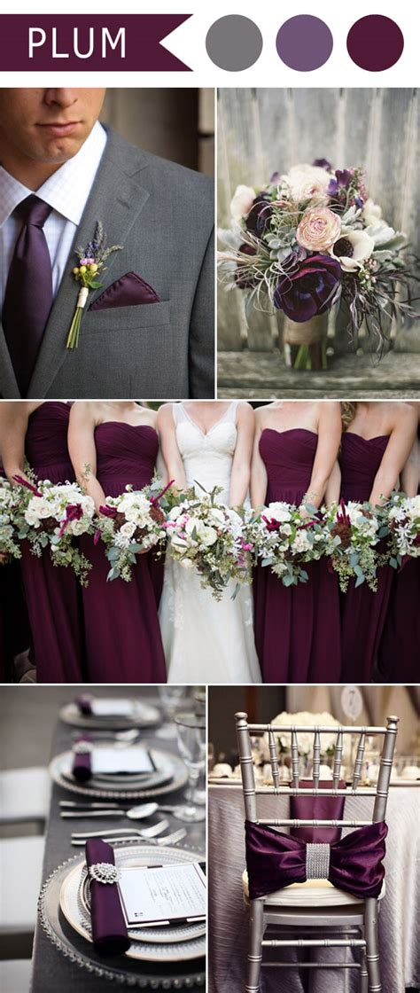 different shades of purple wedding colors