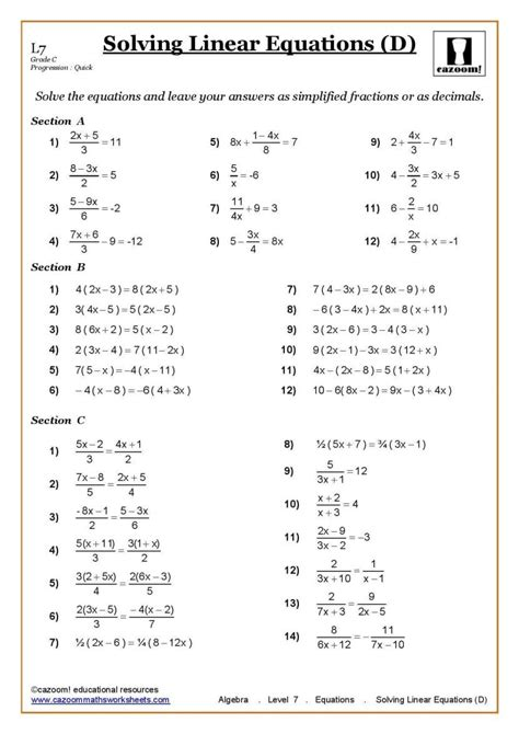 ks ks maths worksheets printable with answers year