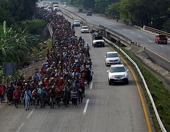 Image result for immigrants going toward the border