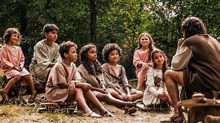 Image result for free pics of the chosen season one jesus and the children