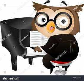 Image result for Owl Playing piano
