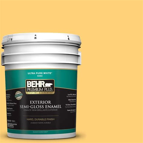 behr premium plus gal p yellow jubilee semi gloss