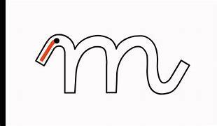 Resultado de imagen de letra m  minuscula cursiva