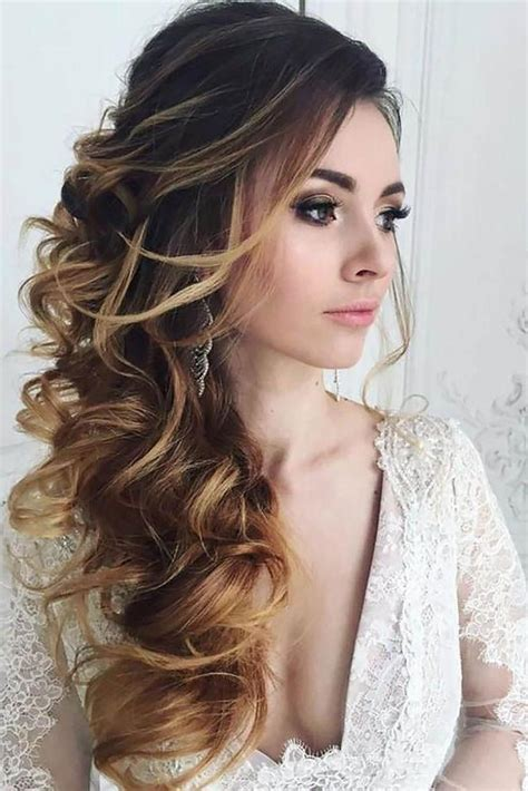 inspirations of long hairstyles down for wedding