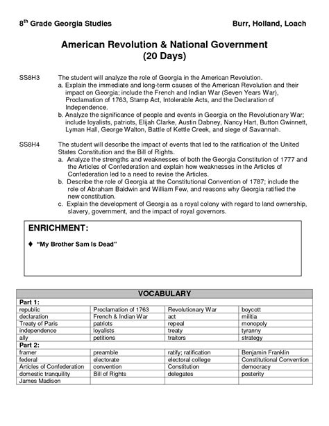 best images of revolutionary war worksheets th grade