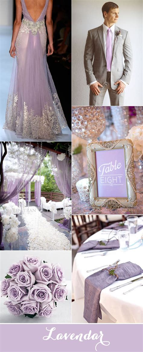 top purple and grey wedding color palettes for