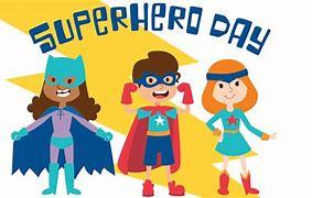 Image result for super hero day clip art