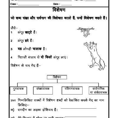hindi vyakaran visheshan adjectives nices hindi