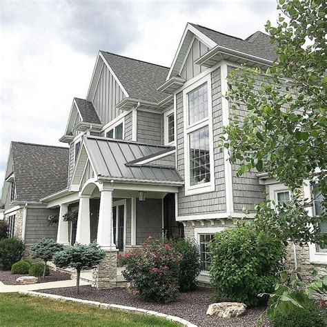 shake shingle style home grey home exterior mastic alcoa