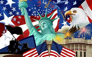 Image result for images american flags at fourth of july