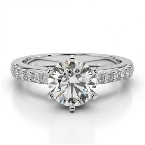 moissanite diamond solitaire wedding ring engagement