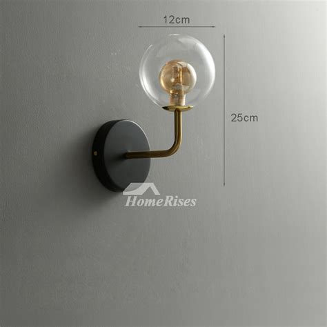 small wall sconce glass black gold wall mounted makeup