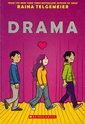 Image result for Drama written and illustrated by Raina Telgemeier