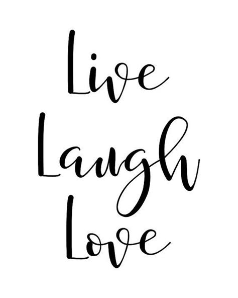 printable wall art quote live laugh love typography