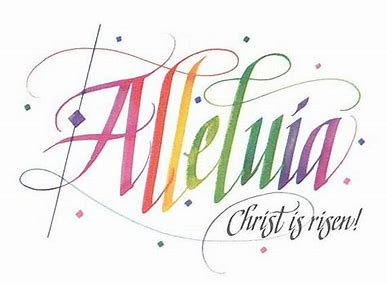 Image result for alleluia he is risen stickers stations of the cross easter