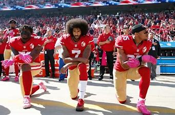 Image result for images black nfl players kneeling anthem