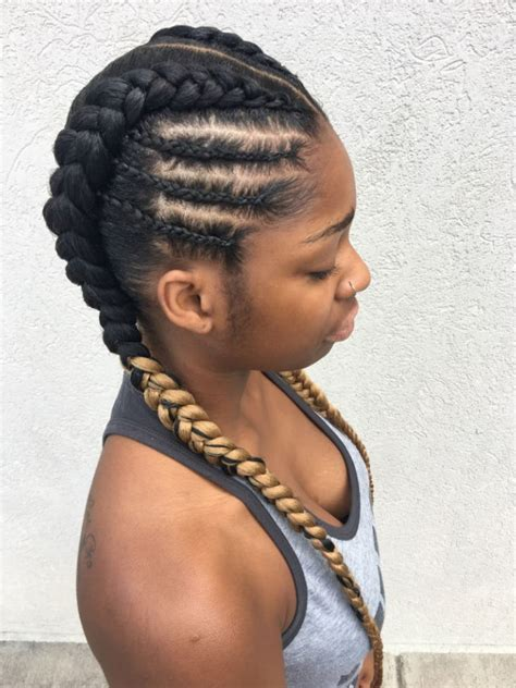 goddess braids to the side new natural hairstyles