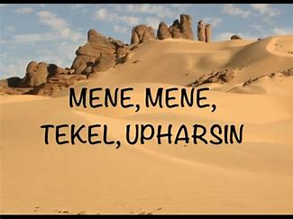 Image result for images of mene mene tekel upharsin