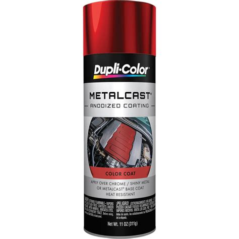 dupli color metalcast aerosol paint enamel red anodised