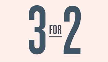 Image result for 3 for 2 offer