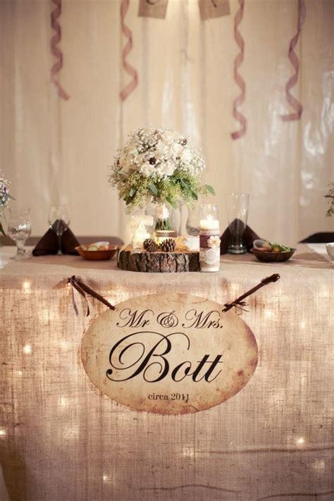rustic style head table head table wedding head table