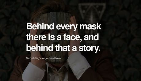 Image result for Hiding Pain Behind a Mask