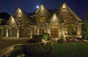 Image result for lighted house
