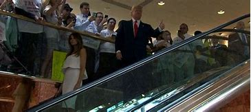 Image result for trump escalator