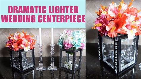 diy dramatic lighted wedding centerpiece youtube