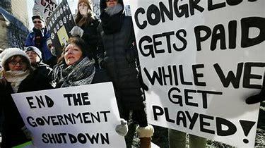 Image result for images popular protest against shutdown