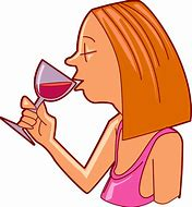 Image result for  free clip art drinking wine