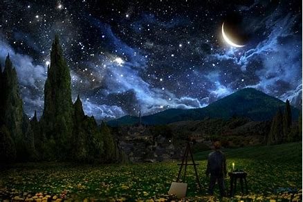 Image result for Starry night wallpaper